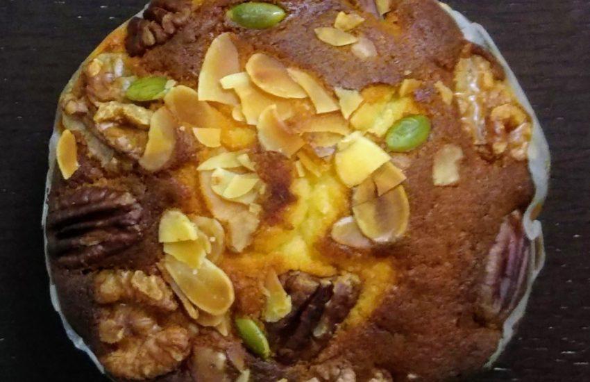 一乗寺中谷白みそと木の実のケーキ